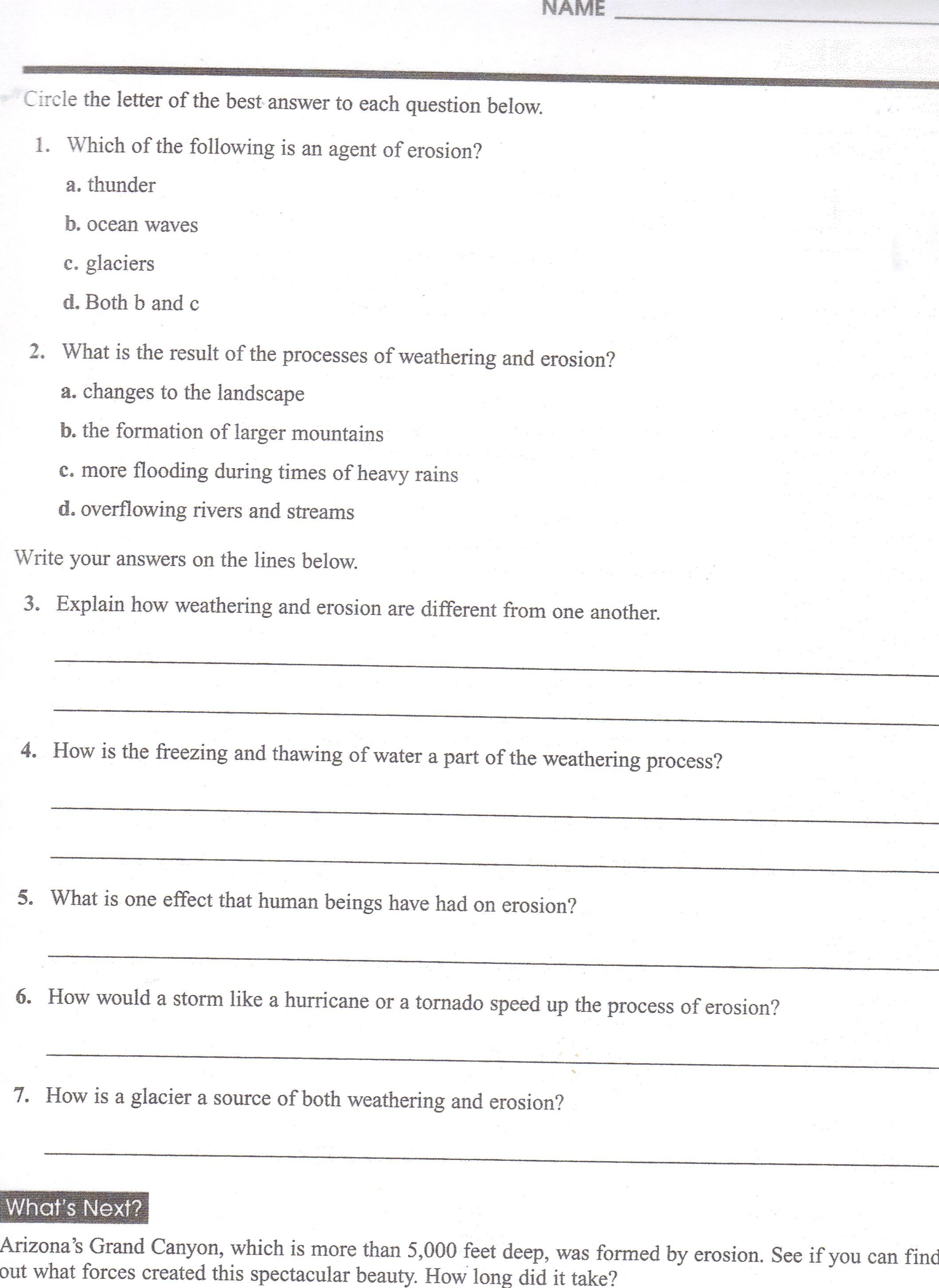 Free Worksheet Landform Worksheets ditoddfifthgrade landform worksheets break it down questions understanding landforms part 1