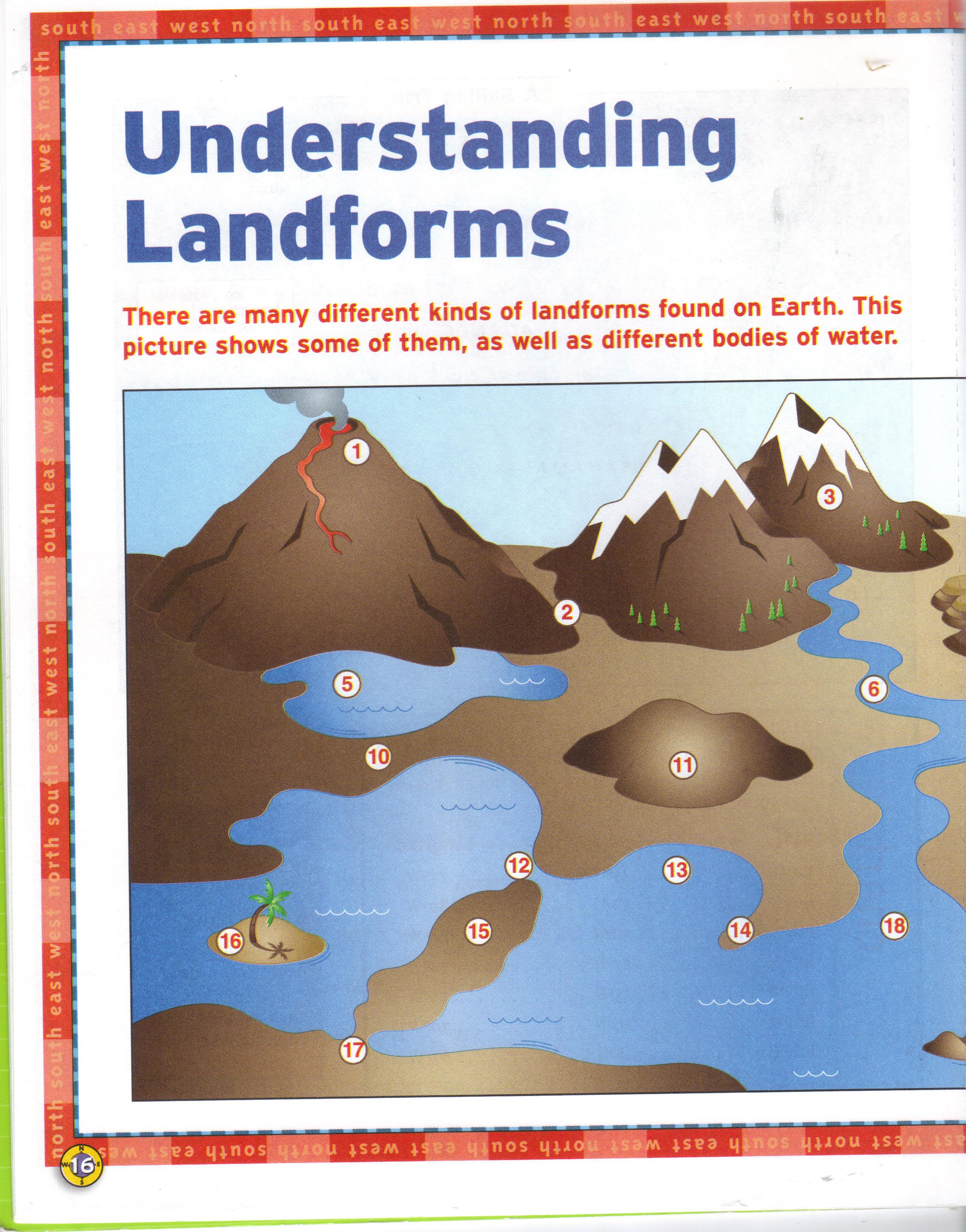 Worksheets Worksheets On Landforms ditoddfifthgrade landform worksheets worksheets